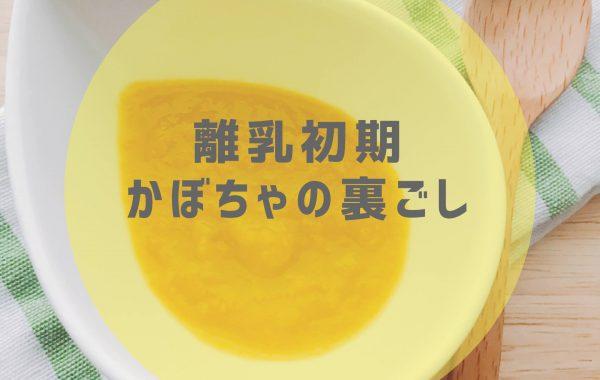 【離乳初期レシピ】かぼちゃの裏ごし