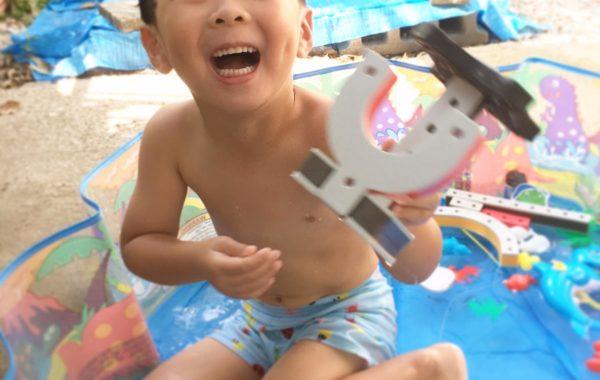 ブロックおもちゃBAKOBA(バコバ)で水嫌い克服!? 〜プールを楽しんだ今年の夏〜
