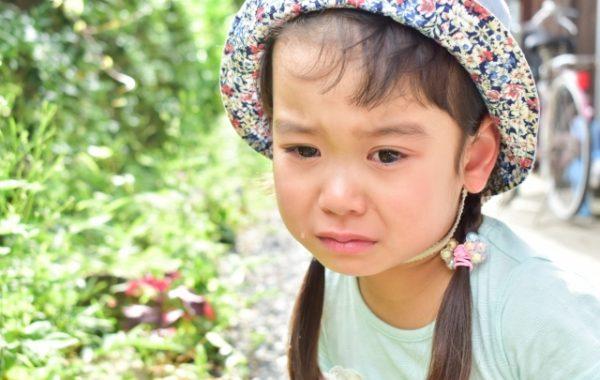 泣き顔の子ども